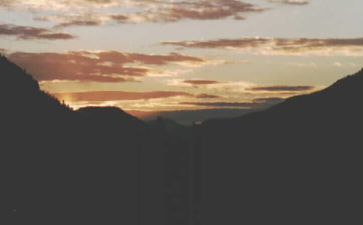 sunrise, 30 mile camp